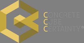 CONCRETE CUBE CERTAINTY Logo